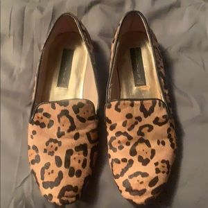 Steven by Steve Madden leopard loafers